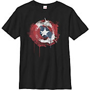 Fifth Sun Boys' Marvel Ink Shield Graphic T-Shirt