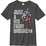 Fifth Sun Boys' Marvel Capn From Brooklyn Graphic T-Shirt