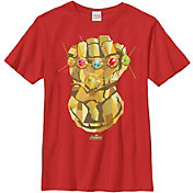 Fifth Sun Boys' Marvel Avengers Infinity Wars Gauntlet Graphic Tee
