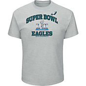 NFL Men's Super Bowl LII Bound Philadelphia Eagles Heart and Soul Grey T-Shirt