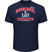 NFL Men's Super Bowl LII Bound New England Patriots Heart and Soul Navy T-Shirt
