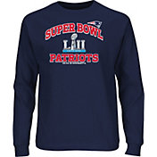 NFL Men's Super Bowl LII Bound New England Patriots Heart and Soul Navy Long Sleeve Shirt