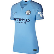 Nike Women's Manchester City 2018 Breathe Stadium Home Replica Jersey