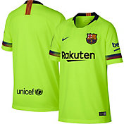 Nike Youth Barcelona FC 2018 Breathe Stadium Away Replica Jersey