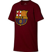 Nike Youth FC Barcelona Crest Maroon T-Shirt