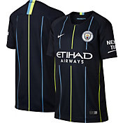 Nike Youth Manchester City 2018 Breathe Stadium Away Replica Jersey