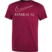Nike Youth Sacramento Republic FC Wordmark LegendMaroon Performance T-Shirt