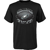 NFL Team Apparel Youth Philadelphia Eagles Satellite Black T-Shirt