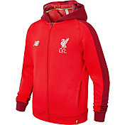 New Balance Youth Liverpool Training Red Perfomance Full-Zip Hoodie