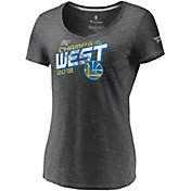NBA Women's 2018 Western Conference Champions Golden State Warriors Grey Locker Room V-Neck T-Shirt